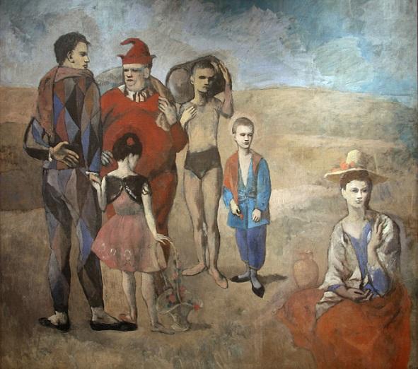 quadro famiglia di saltimbanchi