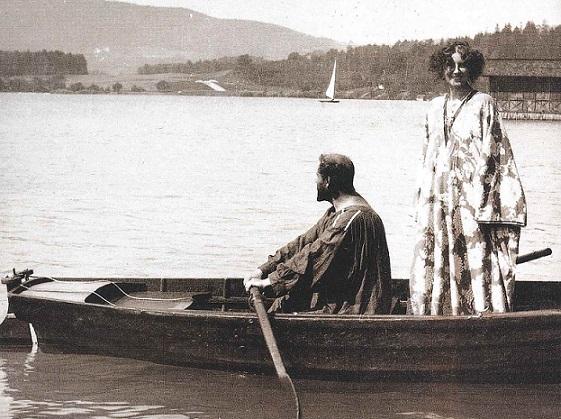 emilie al lago con gustav