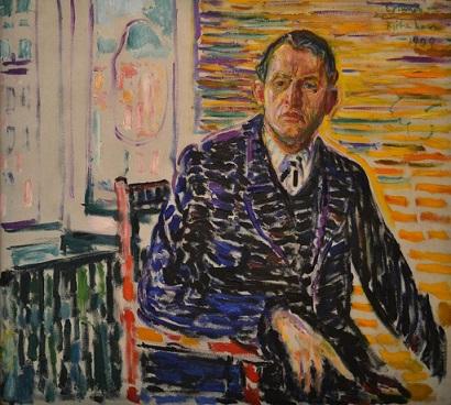 Munch che dipinge se stesso in clinica