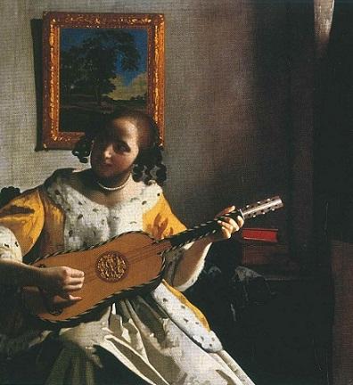 suonatrice di chitarra