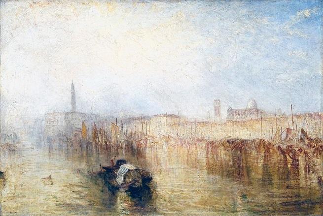 quadro di Turner Venezia, il molo e palazzo