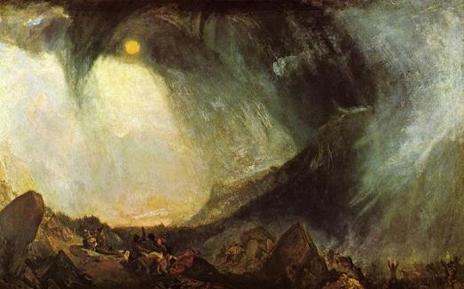 Turner Anniabale e il suo esercito attraversano le Alpi