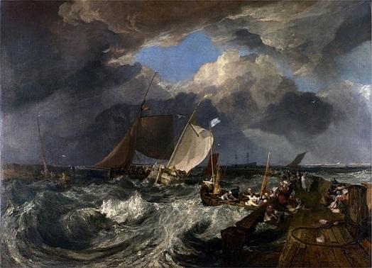 Turner il molo di Calais