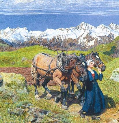 segantini primavera sulle Alpi