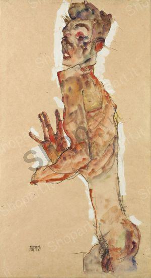 egon schiele autoritratto con le dita allargate