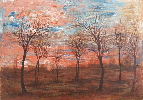 egon schiele paesaggio bohemian landscape