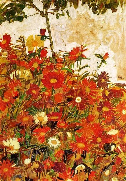 schiele field of flower 1