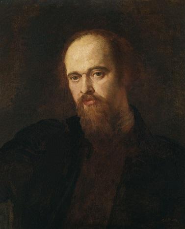 quadro di George Frederic Watts ritratto di Gabriel Rossetti
