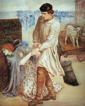 quadro Rossetti la ritrovata