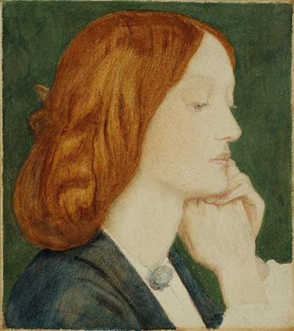 quadro Rossetti ritratto di Elizabeth siddal