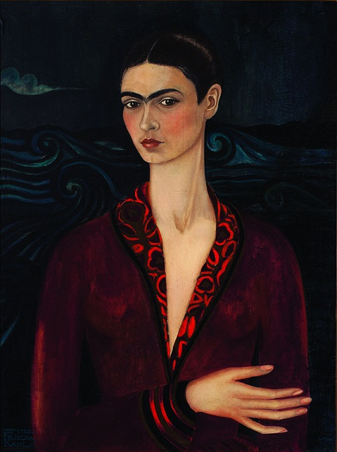 Frida autoritratto con velluto