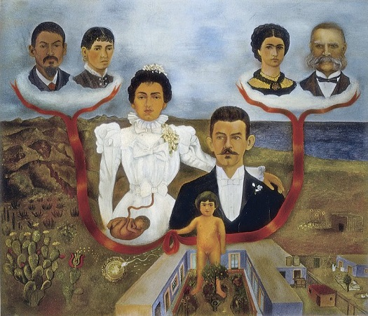 Frida i miei nonni i miei genitori e io